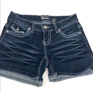 Sourgirl premium denim bling shorts, EUC, size 3